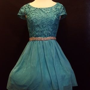 Beautiful teal occasion dress